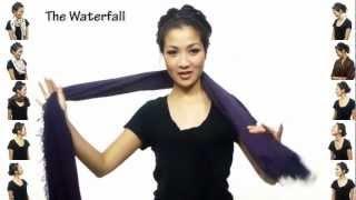 بالفيديو: 25 ربطة وشاح بطريقة مبتكرة وسهلة