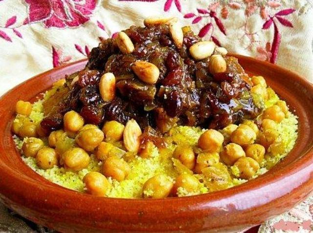 الكسكس المغربي بالتفاية