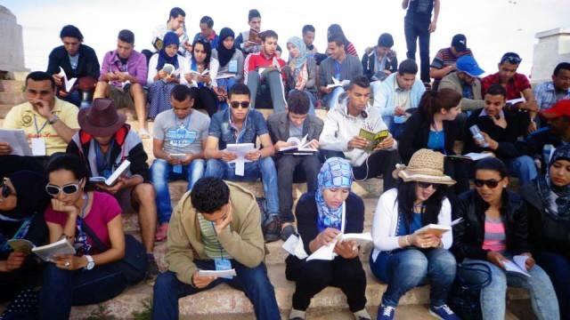 شباب مغاربة يدعون ل