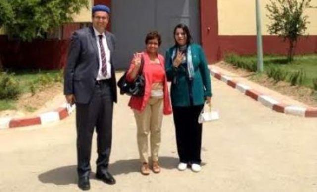 نشطاء يقومون  بزيارة للمعتقلين الأمازيغ