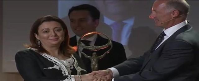 التونسية وداد بوشماوى تتسلّم جائزة الأعمال من أجل السلام لسنة 2014