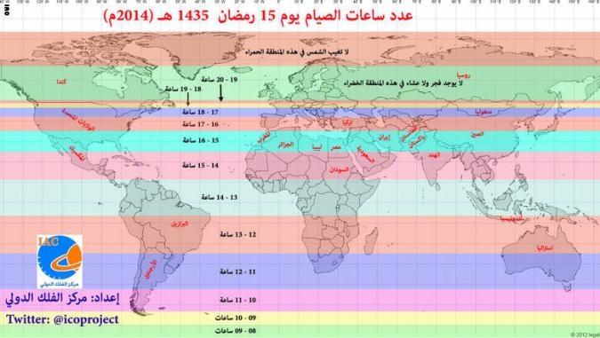 عدد ساعات صيام رمضان ستصل إلى16ساعة في المغرب