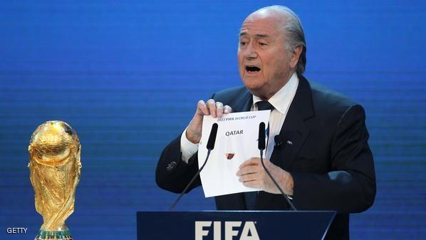 بلاتر يرفض طلب اعادة التصويت لمونديال قطر