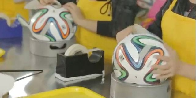 كيف تصنع كرة مونديال البرازيل 2014؟