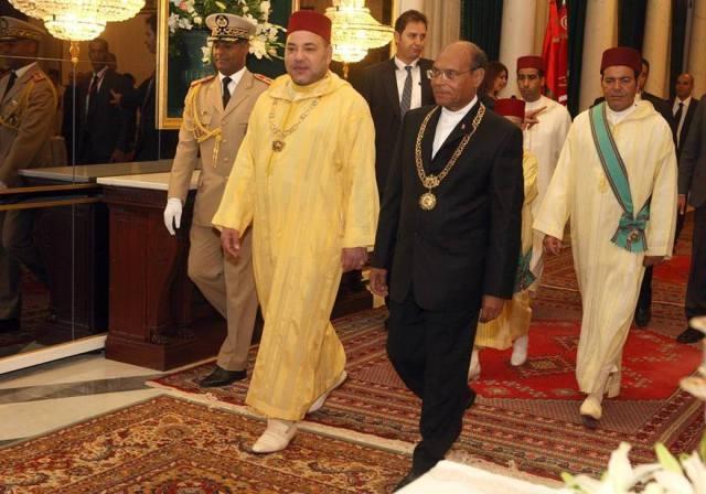 العاهل المغربي يوجه برقية شكر وامتنان إلى الرئيس التونسي المنصف المرزوقي