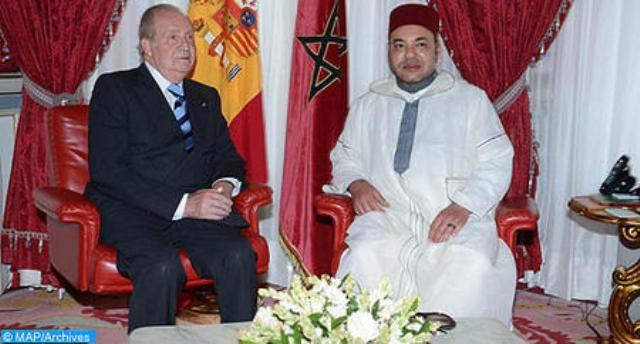 العاهل المغربي يتصل هاتفيا مع الملك خوان كارلوس الأول و الأمير فيليب