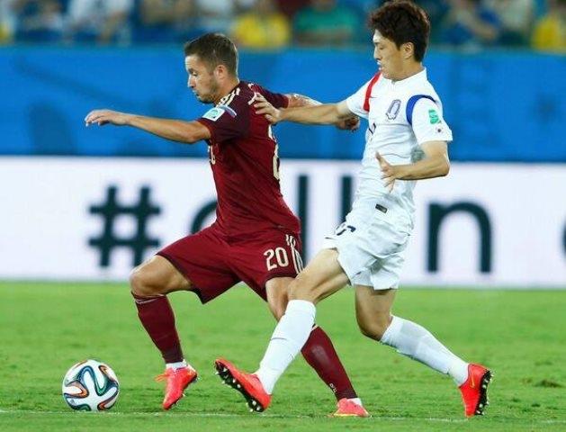 تعادل ايجابي بين روسيا وكوريا الجنوبية