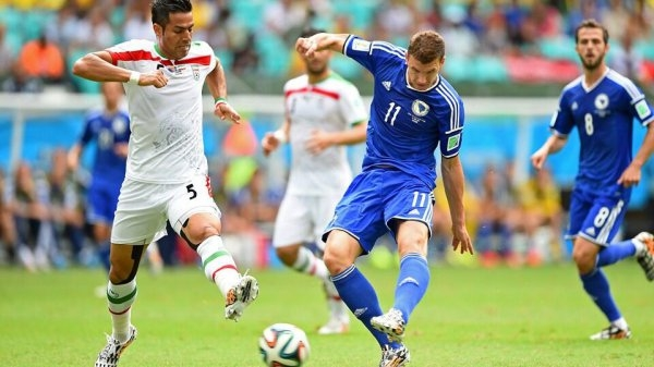 البوسنة تنتصر على ايران بثلاثية وتقصى