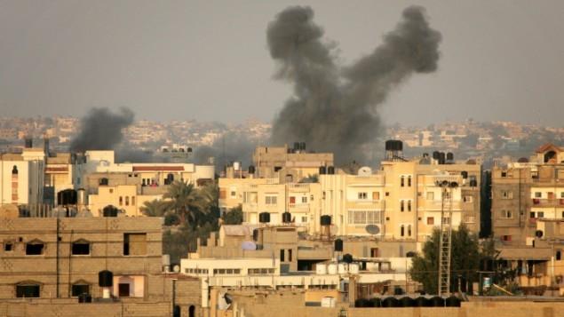 سلاح الجو الاسرائيلي يشن سلسلة غارات على قطاع غزة