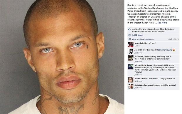 مجرم وسيم يثير إعجاب النساء بعد نشر صورته من طرف الشرطة
