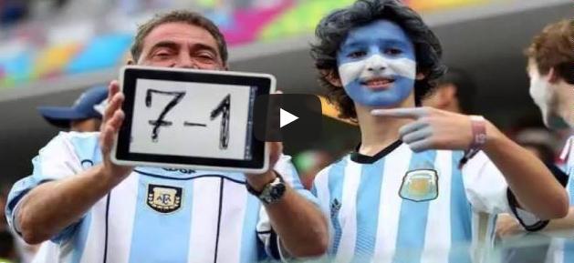 فرحة جماهير ولاعبين المنتخب الارجنتيني