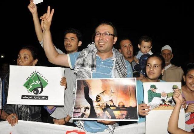 المواطنون المغاربة يعبرون عن تضامنهم مع الشعب الفلسطيني وينددون بالاعتداءات الإسرائلية على غزة
