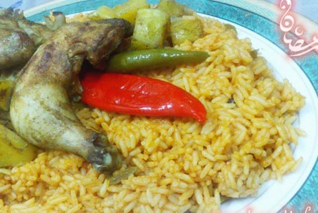 الرز الليبي بالدجاج