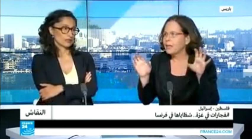 إسرائيلية لمصري يدافع عن إسرائيل: