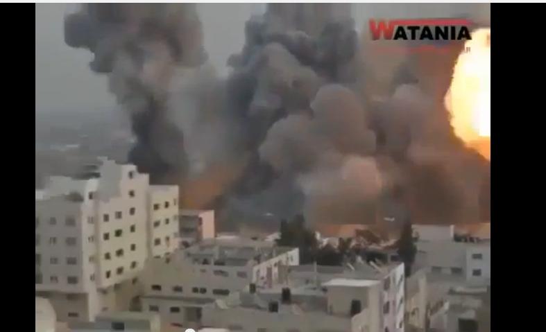 40 ثانية .. تبين قوة القصف الاسرائيلى على غزة
