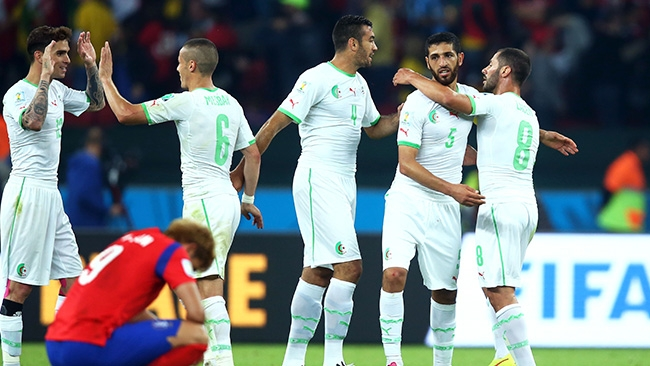 المنتخب الجزائري في المركز 14 عالميا