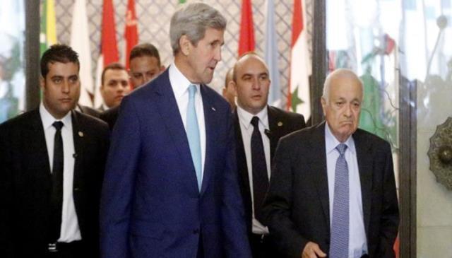 العربي يجتمع مع كيري لبحث الوضع في غزة