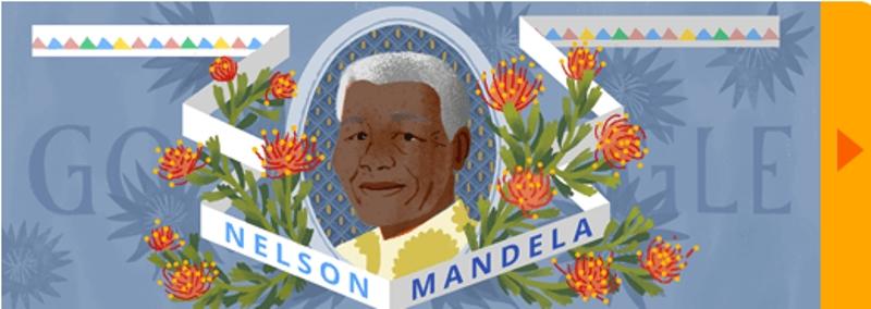 غوغل يحتفل بالذكرى الـ 96 لميلاد «نيلسون مانديلا»