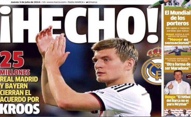الألماني كروس ينتقل  إلى ريال مدريد