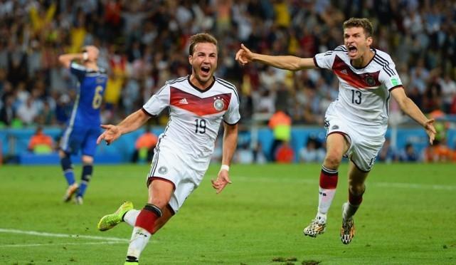 هدف ألمانيا على الأرجنتين