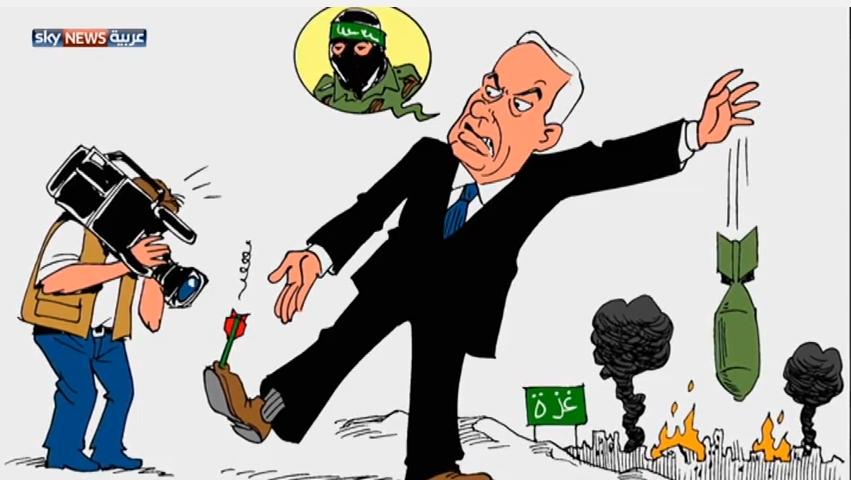مأساة غزة عبر رسوم الكاريكاتير