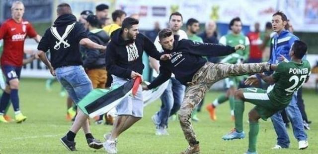 متضامنون مع غزة يهاجمون لاعبين صهاينة