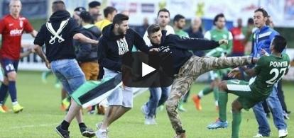 مغاربيون يهاجمون لاعبين مكابي حيفا