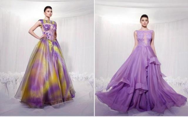 تشكيلة فساتين للمصمم المغربي كريم الجوهري تطبعها الأناقة والتميز