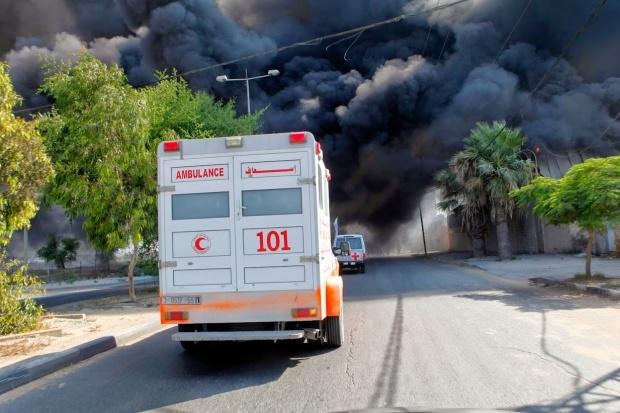 غارة اسرائيلية تستهدف مستشفى الشفاء بغزة
