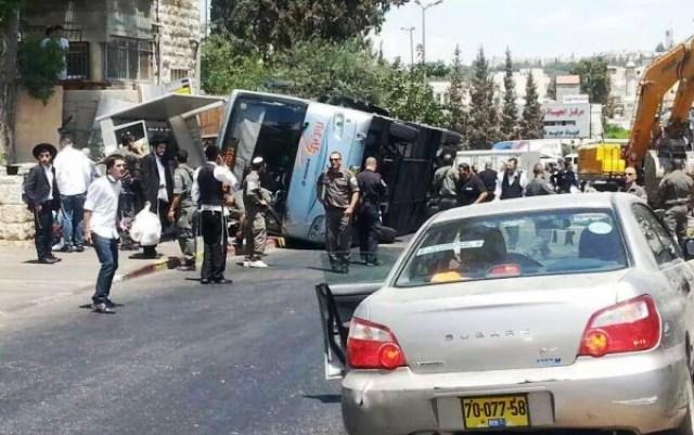 مقدسي يصدم حافلة في القدس ويقتل اسرائيليا