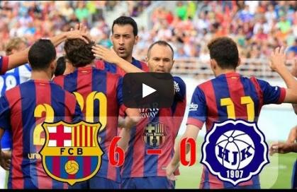 برشلونة 6-0 هلسنكي
