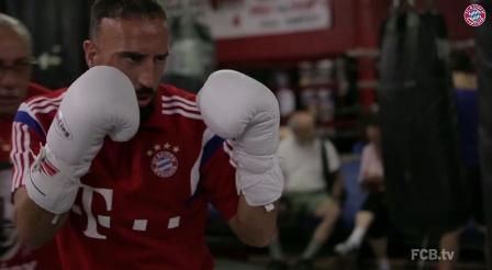 فرانك ريبري في حلبة الملاكمة