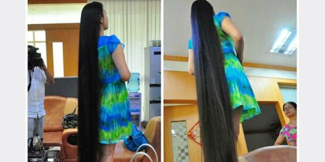 صينية تبيع شعرها المبهر فى مزاد علني