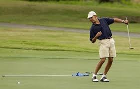 أوباما قضى 20 عطلة ولعب 186 مباراة للجولف