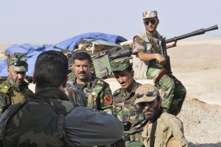 البشمركة الكردية تحارب