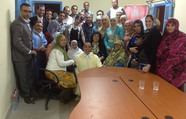 نشاط حزبي للوزيرة المغربية فاطمة مروان خلال وجودها في مهمة رسمية بتزنيت