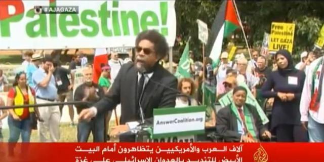 آلاف المتظاهرين أمام البيت الأبيض تنديدا بالعدوان الإسرائيلي