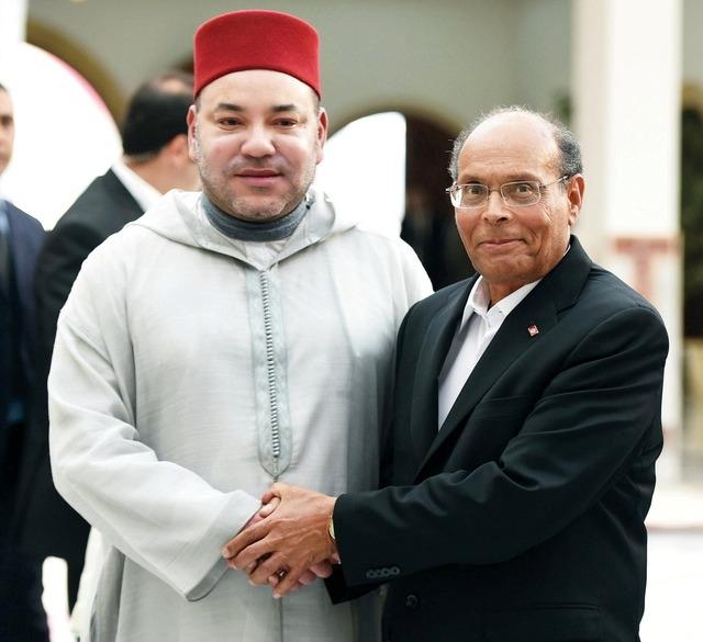 المرزوقي: زيارة العاهل المغربي لتونس شكلت