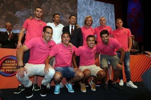 برشلونة يقدم لاعبيه الجدد في لقاء الأنصار
