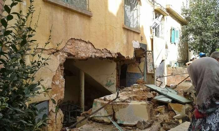 انفجار شديد لقنينة غاز يودي بأشخاص وتدمير بنايتين بمدينة أزرو