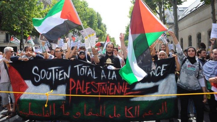 آلاف المتظاهرين بشوارع باريس دعما للفلسطينيين