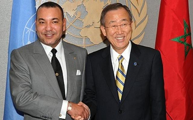 بان كي مون ينوه بمبادرات العاهل المغربي لفائدة السلام والاستقرار  في افريقيا