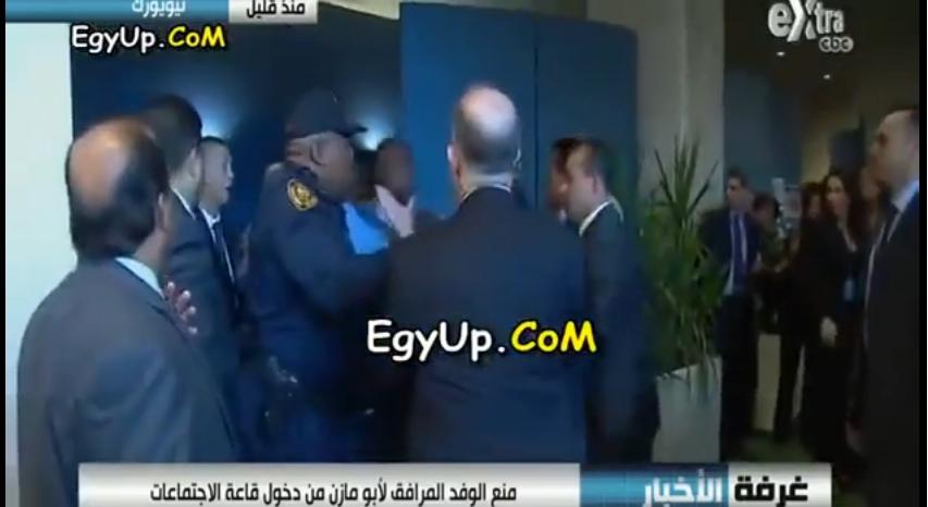 حراس عباس أبو مازن يشتبكون مع أمن الأمم المتحدة