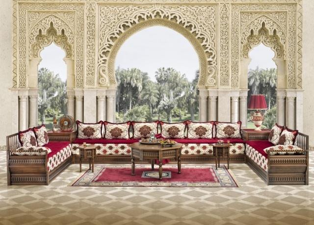 الصالون المغربي تحفة تضفي جمالية للمنزل