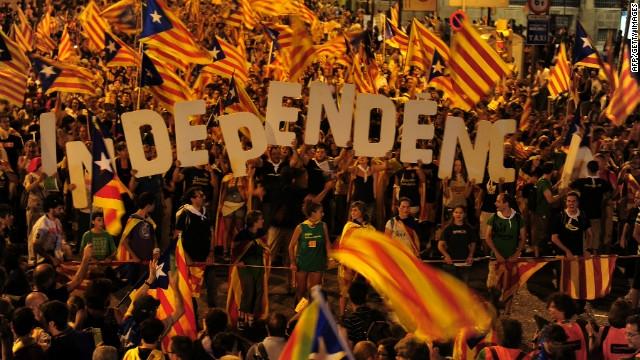 كاتالونيا تريد استفتاء حول الاستقلال عن إسبانيا