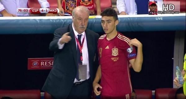 الحدادي يلعب أول لقاء مع المنتخب الاسباني