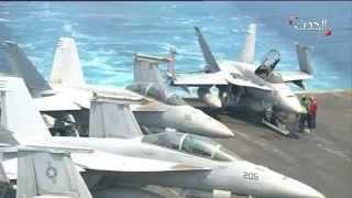 العمليات ضد داعش من بارجة أميركية