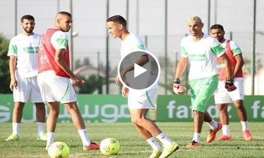 المنتخب الجزائري يستعد لمباراة اثيوبيا