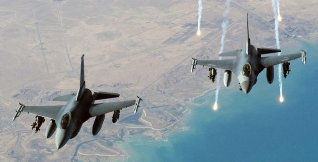 طائرات أمريكية تقصف مقاتلي الدولة الإسلامية