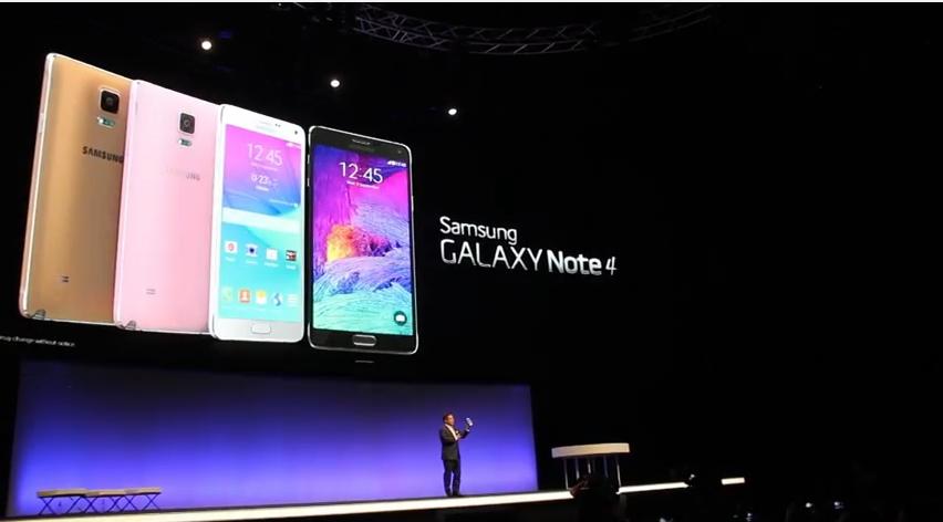 لحظة الكشف عن هاتف Samsung Galaxy Note4